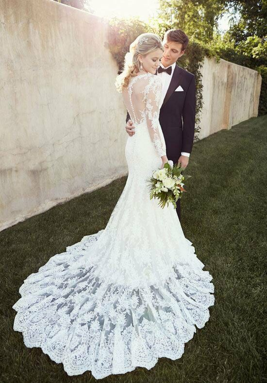 Essense Of Australia D1863 Sheath Wedding Dress