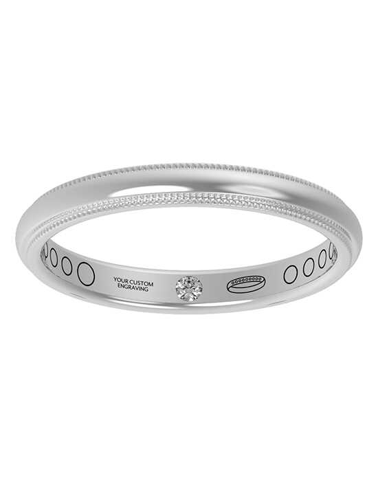 Everband 2.5 mm Milgrain White Gold,Platinum,Rose Gold Wedding Ring