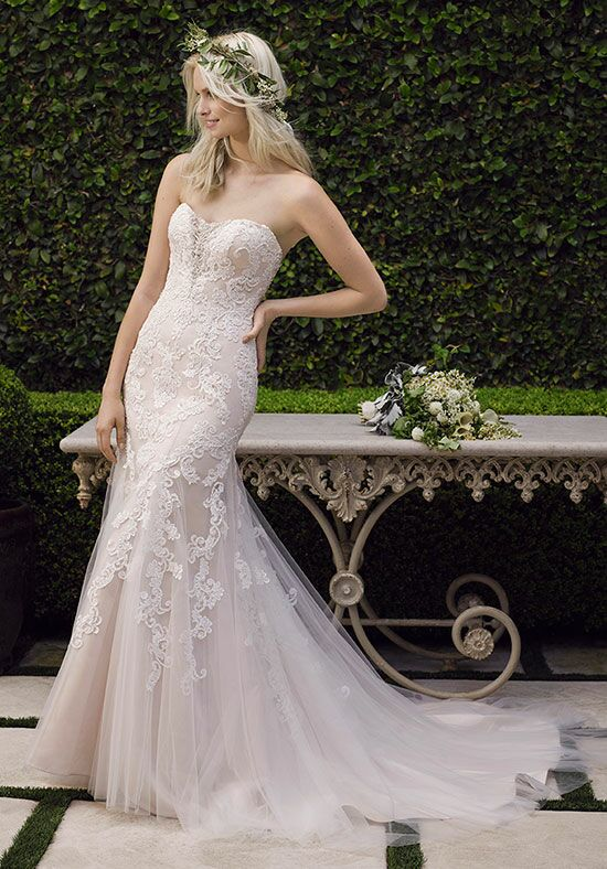 Casablanca Bridal 2242 Lotus Sheath Wedding Dress