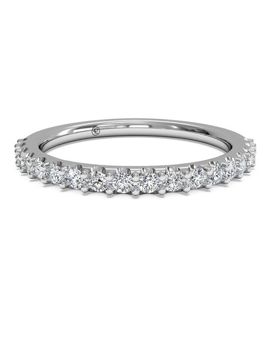 Ritani Women's French-Set Diamond Band - in 14kt White Gold - (0.28 CTW) White Gold Wedding Ring