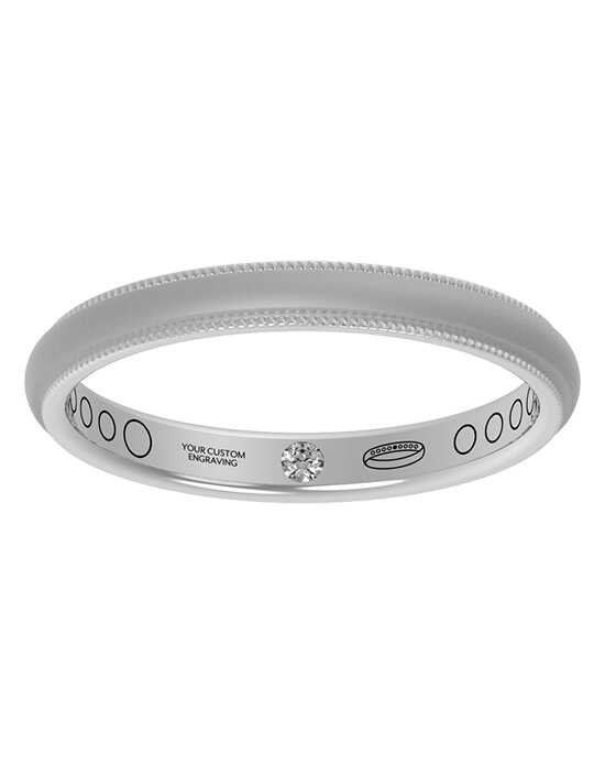 Everband 2.5 mm Milgrain with Matte Gold,Rose Gold,White Gold,Platinum Wedding Ring