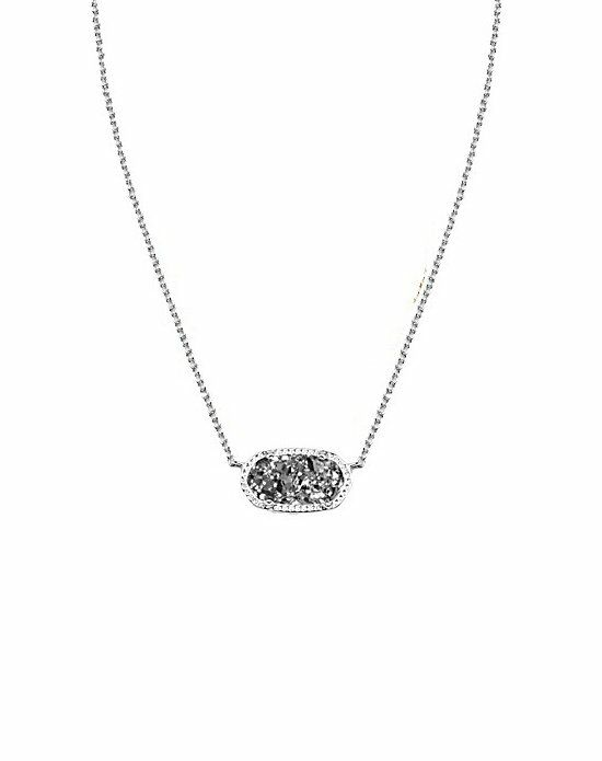 Kendra Scott Elisa Necklace in Platinum Drusy Wedding Necklace photo