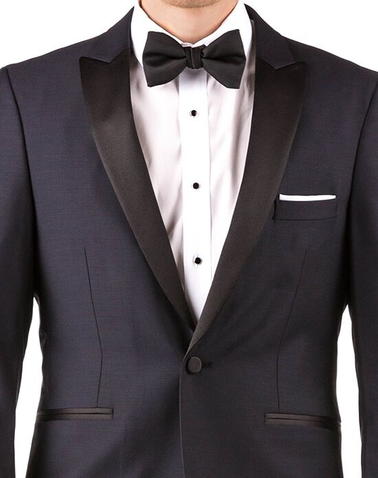 Generation Tux Midnight Blue Lapel Tux Blue, Black, White Tuxedo