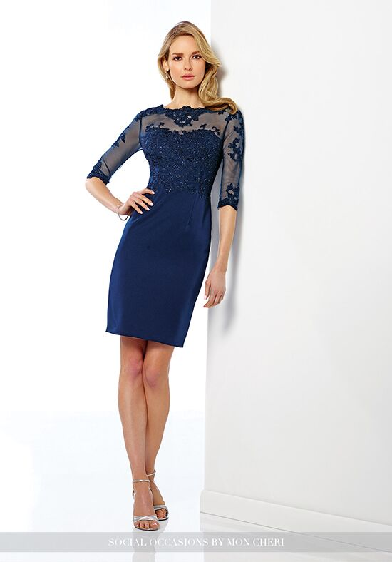 Social Occasions by Mon Cheri 216878 Blue Mother Of The Bride Dress