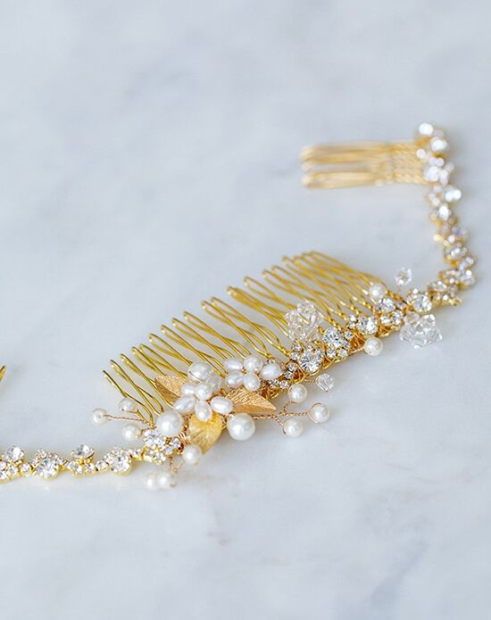Davie & Chiyo | Hair Accessories & Veils Petite Calliope Headpiece Gold, Pink, Silver Pins, Combs + Clip