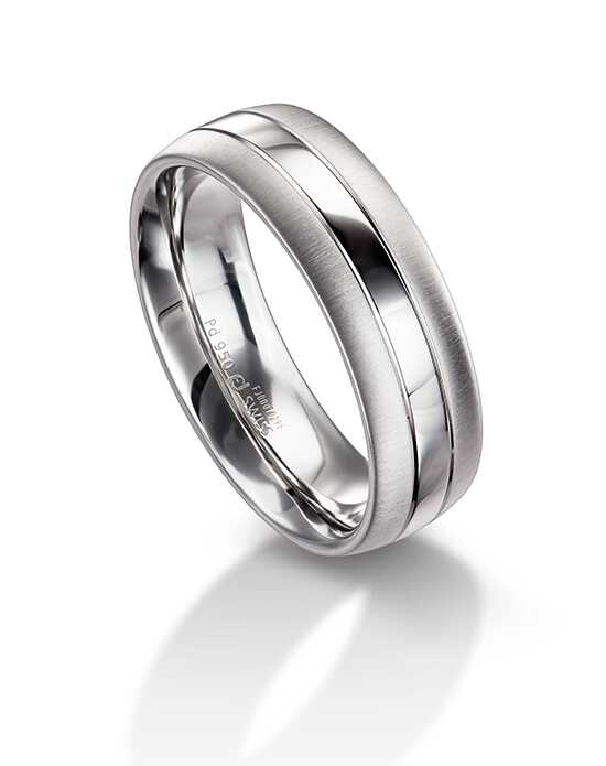 Furrer Jacot Wedding Bands 71-26280 White Gold Wedding Ring