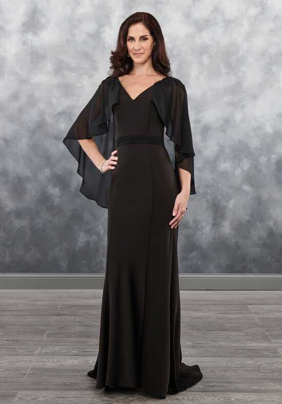 Beautiful Mothers by Mary's MB8033 Black Mother Of The Bride Dress