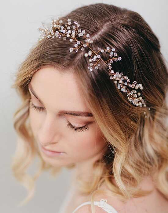 Davie & Chiyo | Hair Accessories & Veils Marielle Hair Wreath Gold, Ivory, Silver Headband
