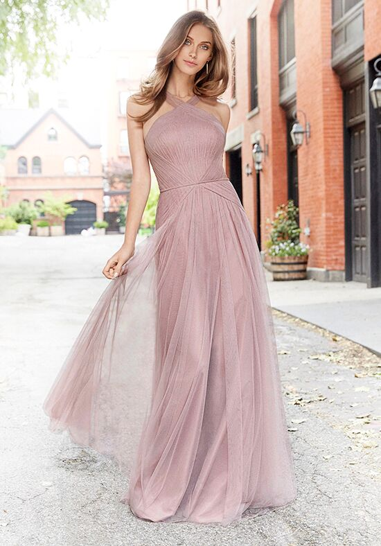 Hayley Paige Occasions 5765 Halter Bridesmaid Dress