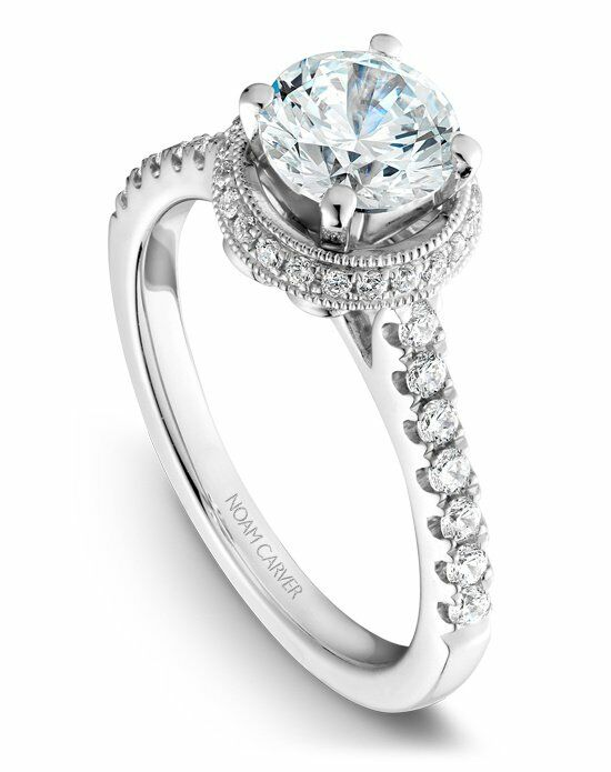 Noam Carver Classic Radiant, Round Cut Engagement Ring