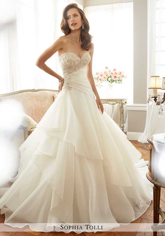 Sophia Tolli Y11711 Bardot A-Line Wedding Dress