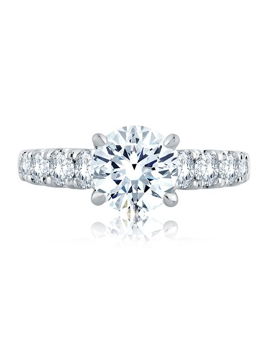 A.JAFFE Glamorous Round Cut Engagement Ring