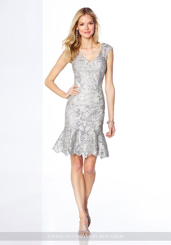Social Occasions by Mon Cheri 117821 Silver Mother Of The Bride Dress