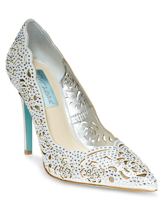 Blue by Betsey Johnson SB-ELSA-silver Wedding Shoes - The Knot