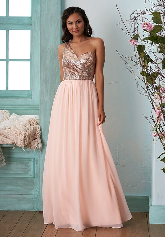 B2 by Jasmine B203013 One Shoulder Bridesmaid Dress