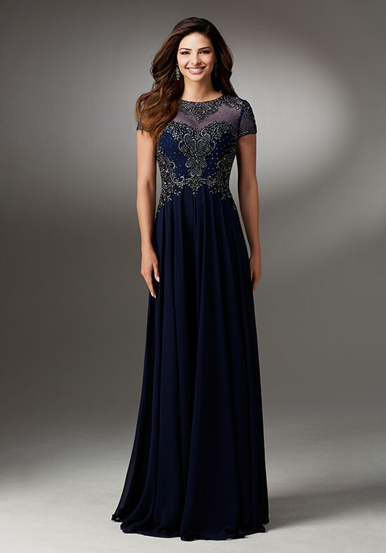MGNY 71522 Blue Mother Of The Bride Dress