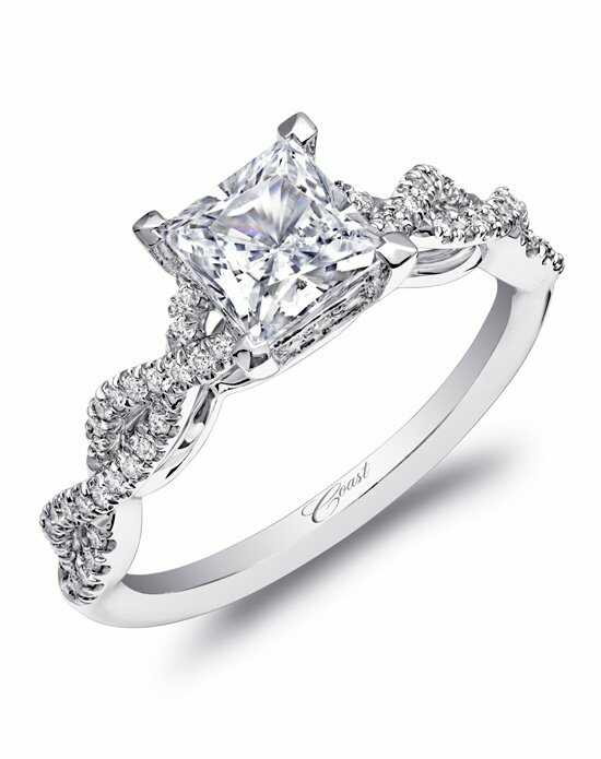 coast diamond woven shank engagement ring lc10002 - Princess Cut Diamond Wedding Rings
