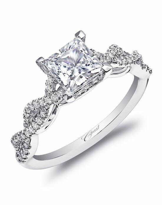 Coast Diamond Woven Shank Engagement Ring-LC10002 Engagement Ring photo