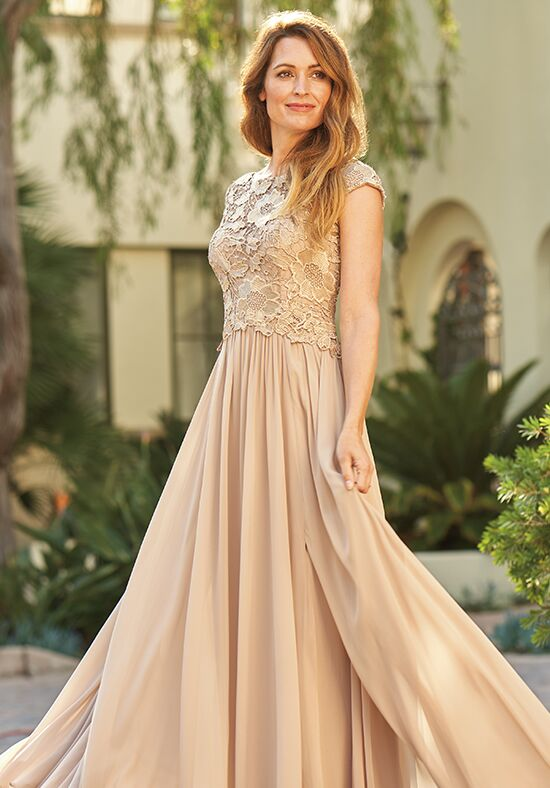 Jade J205061 Gold Mother Of The Bride Dress