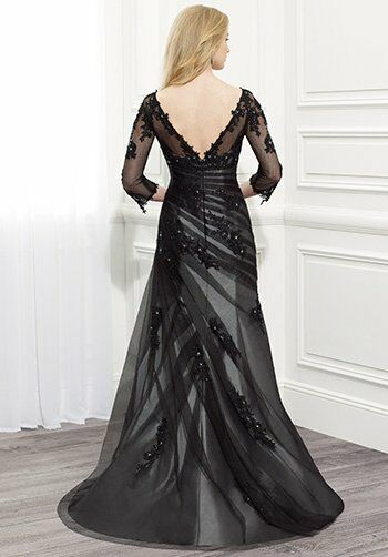 Val Stefani Celebrations MB7367 Black Mother Of The Bride Dress