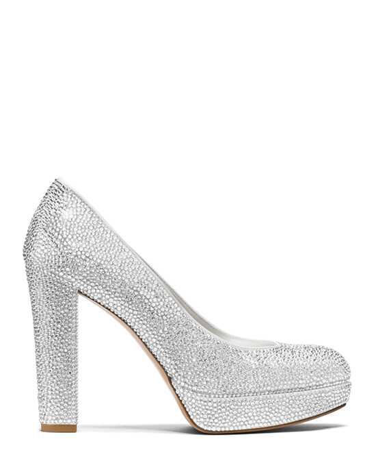 Stuart Weitzman Strongswoon Pump Chalk White Pave Crystals White