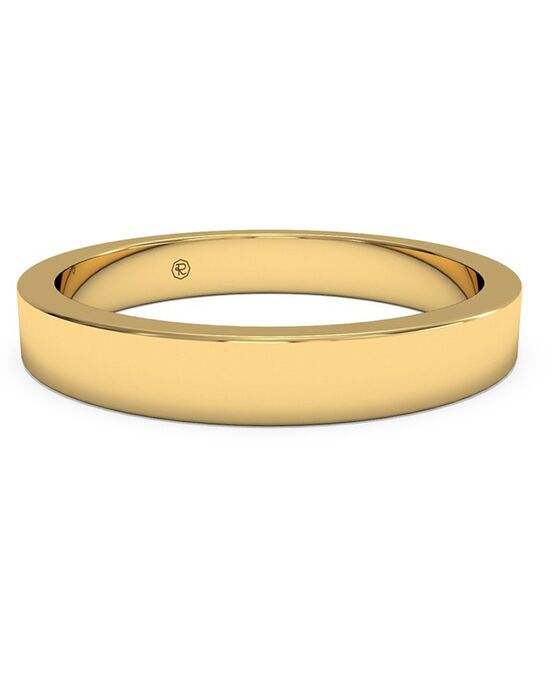ritani womens classic square edge wedding band in 18kt yellow gold gold wedding ring - Ritani Wedding Rings