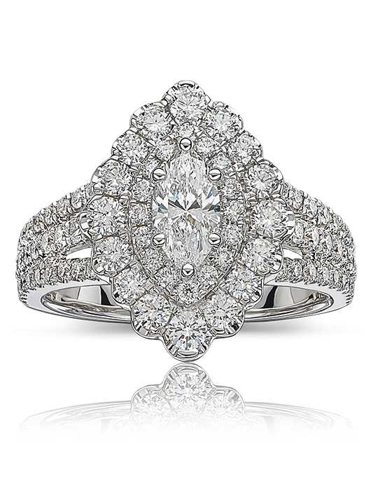 Rogers & Hollands® Glamorous Marquise, Round Cut Engagement Ring