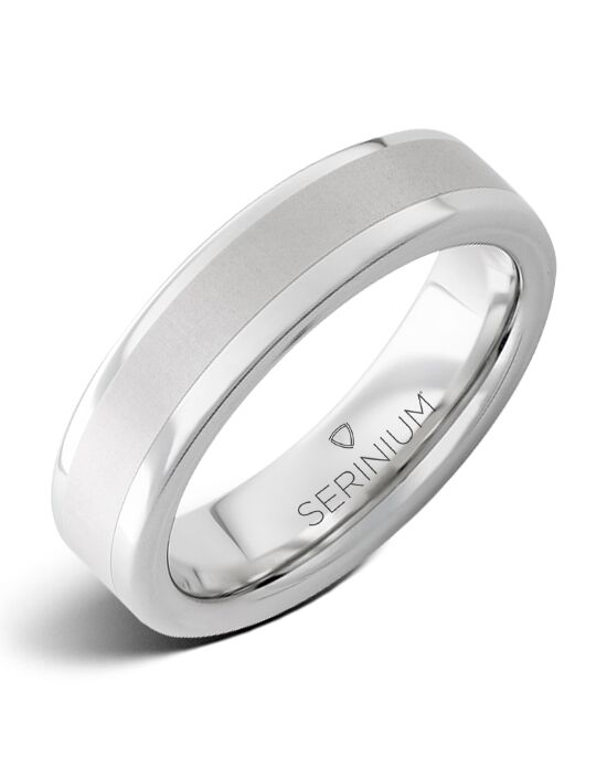 Serinium® Collection Mayfair Slim — Serinium® Satin Center Ring-RMSA001960 Serinium® Wedding Ring