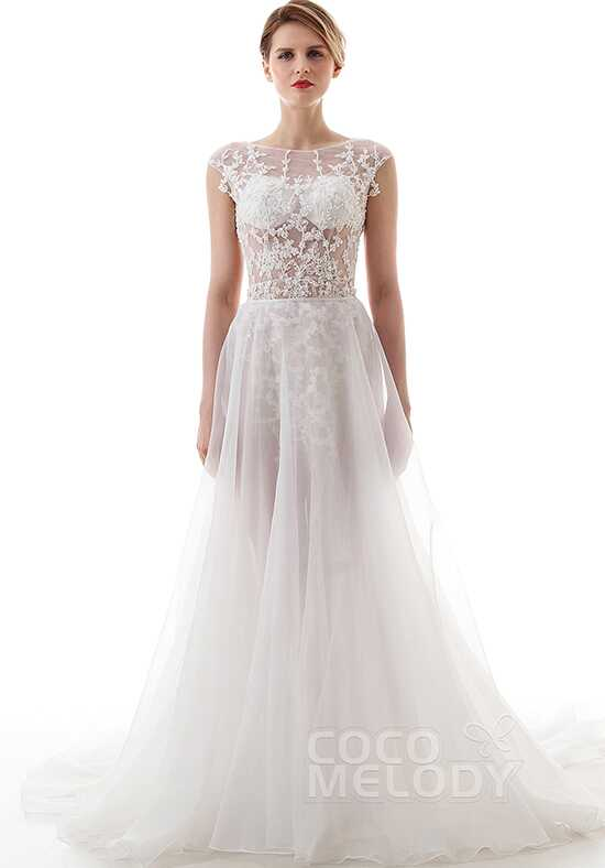 CocoMelody Wedding Dresses LD4446 Sheath Wedding Dress