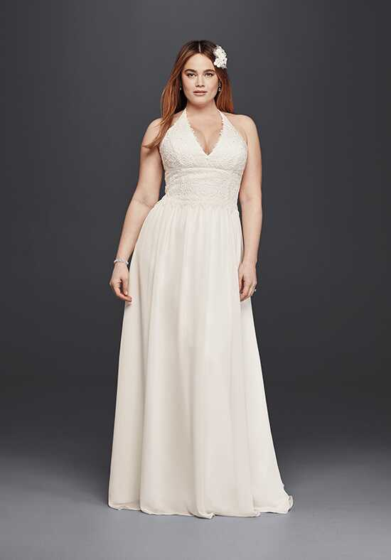 David's Bridal Galina Style 9WG3819 Sheath Wedding Dress