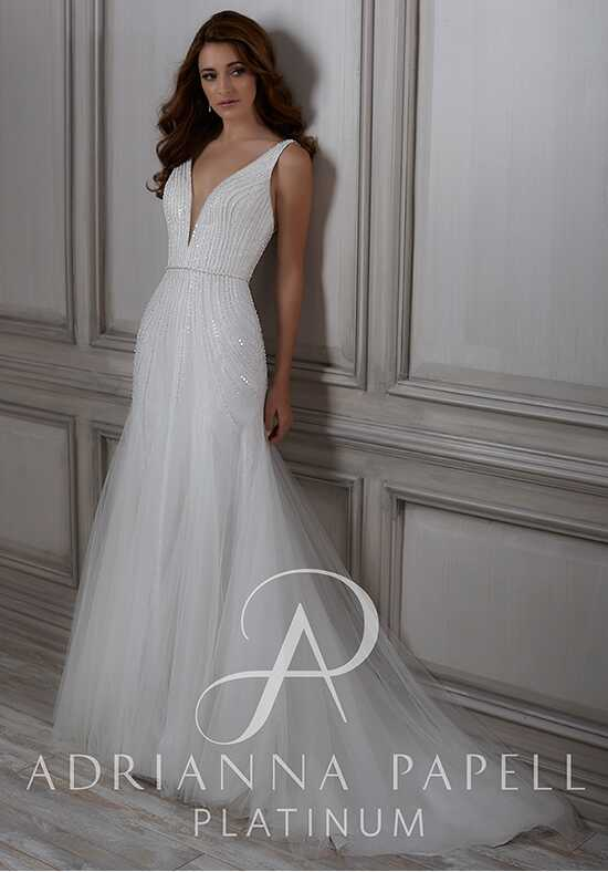 Adrianna Papell Platinum Frances A-Line Wedding Dress