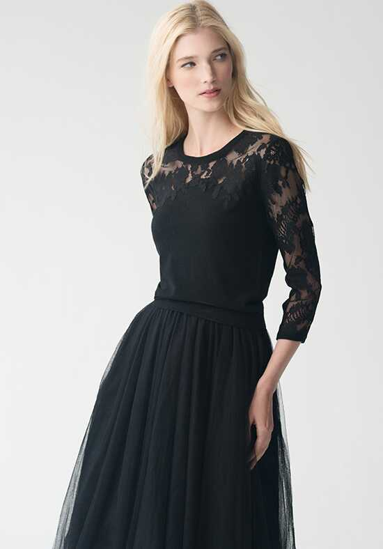 Jenny Yoo Collection (Maids) Aimee Sweater {Black} #SW2602 Illusion Bridesmaid Dress