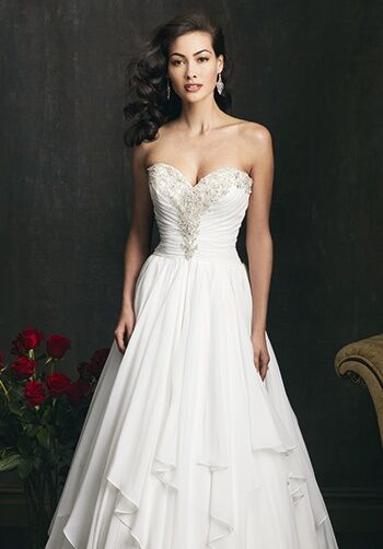 Allure Bridals 9057 A-Line Wedding Dress