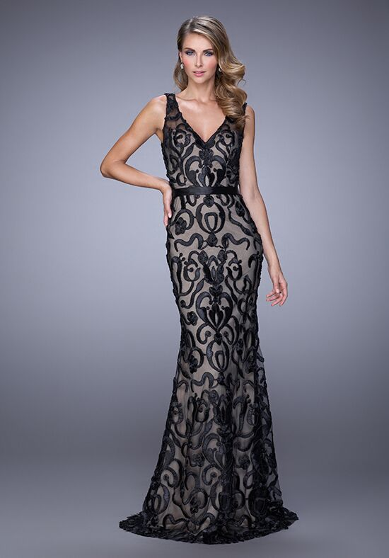 La Femme Evening 21491 Black Mother Of The Bride Dress
