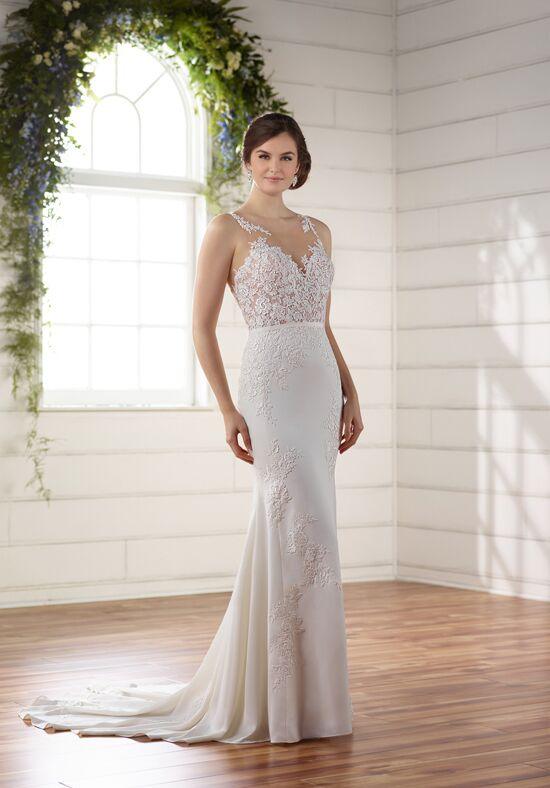Essense of Australia D2215 Sheath Wedding Dress