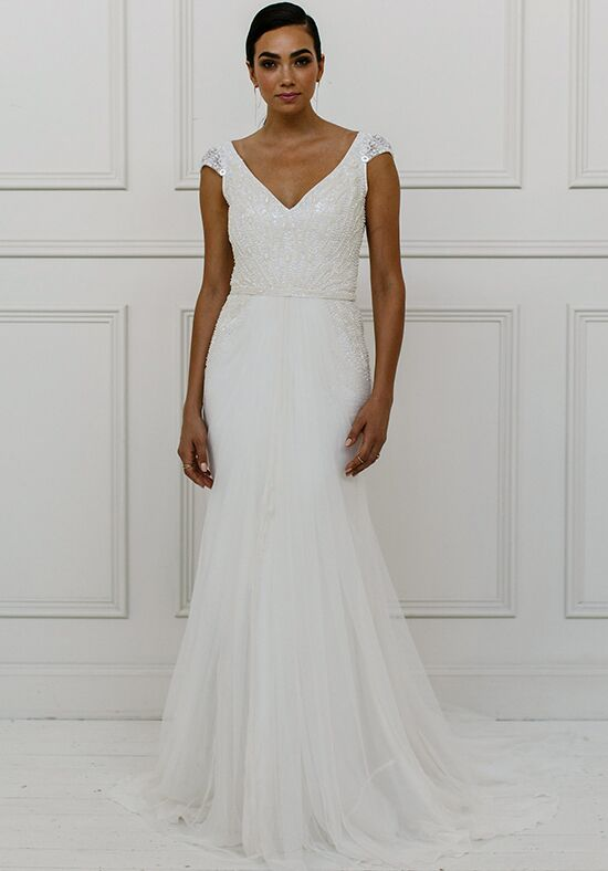 KAREN WILLIS HOLMES Valeria Sheath Wedding Dress