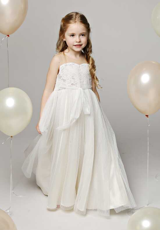 FATTIEPIE penelope Champagne Flower Girl Dress