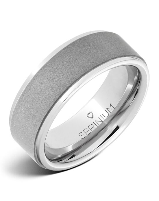 Serinium® Collection Buff — Sandblast Finish Serinium® Ring-RMSA002464 Serinium® Wedding Ring