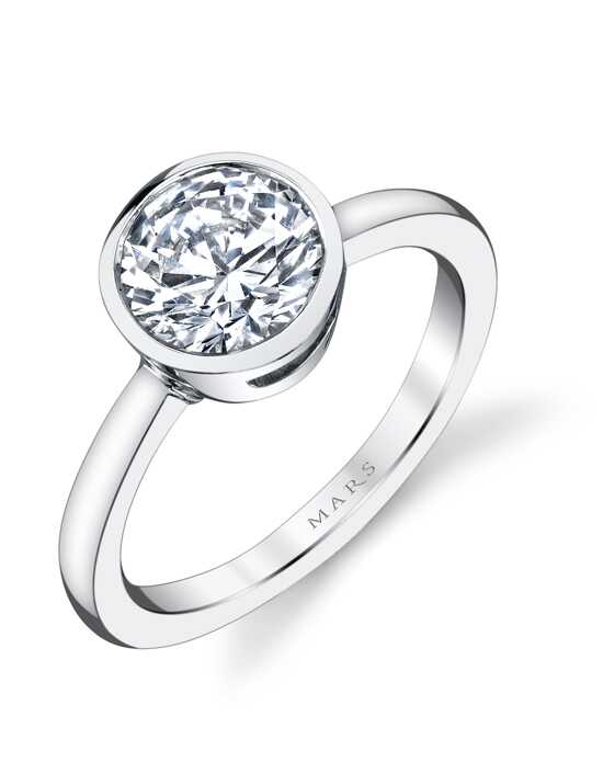 MARS Fine Jewelry Unique Round Cut Engagement Ring