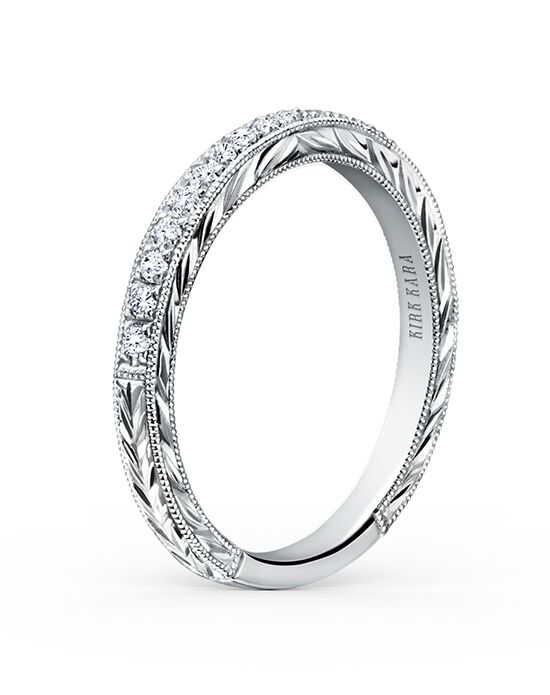 Kirk Kara Carmella Collection K1170D-B White Gold Wedding Ring