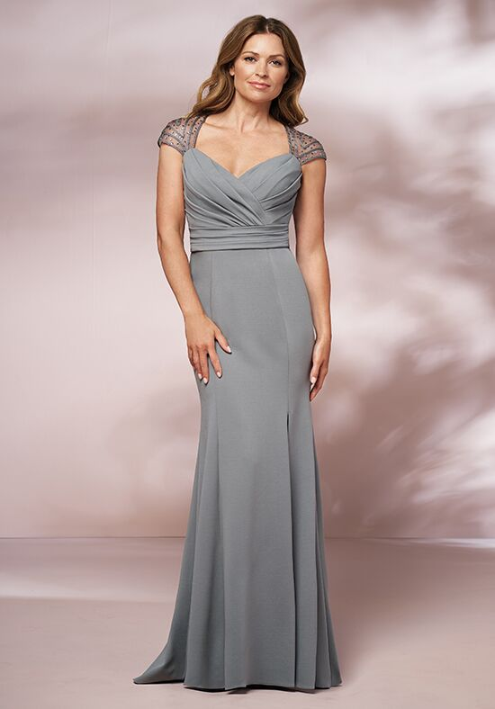 Jade J205006 Silver Mother Of The Bride Dress
