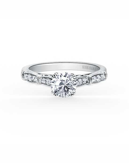 Kirk Kara Classic Round Cut Engagement Ring