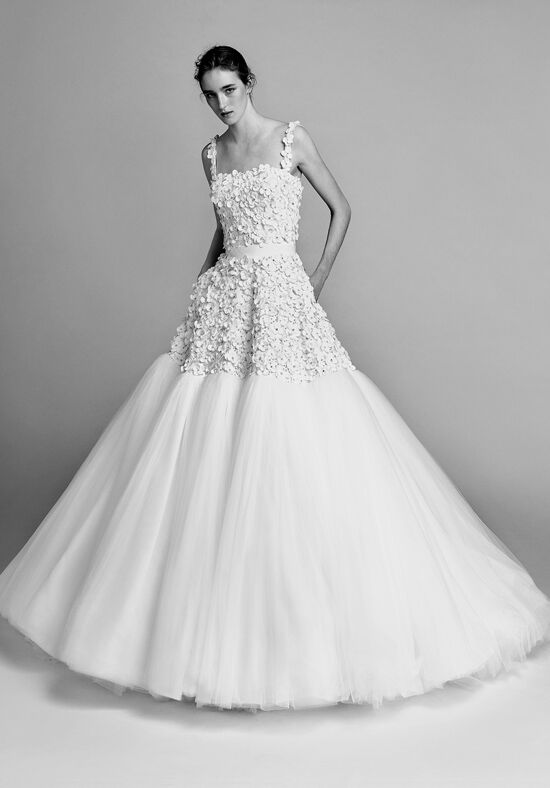 Viktor&Rolf Mariage Flower embroidered tulle cloud Ball Gown Wedding Dress