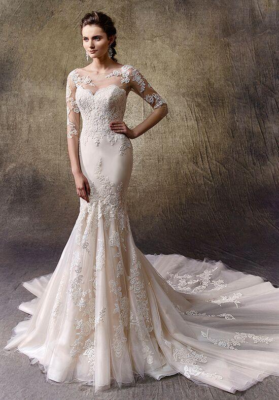Enzoani larissa wedding dress the knot for Tattoo lace back wedding dress