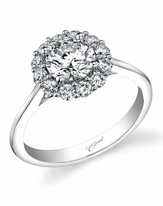 Coast Diamond Round Halo Engagement Ring-LC5205 Engagement Ring photo