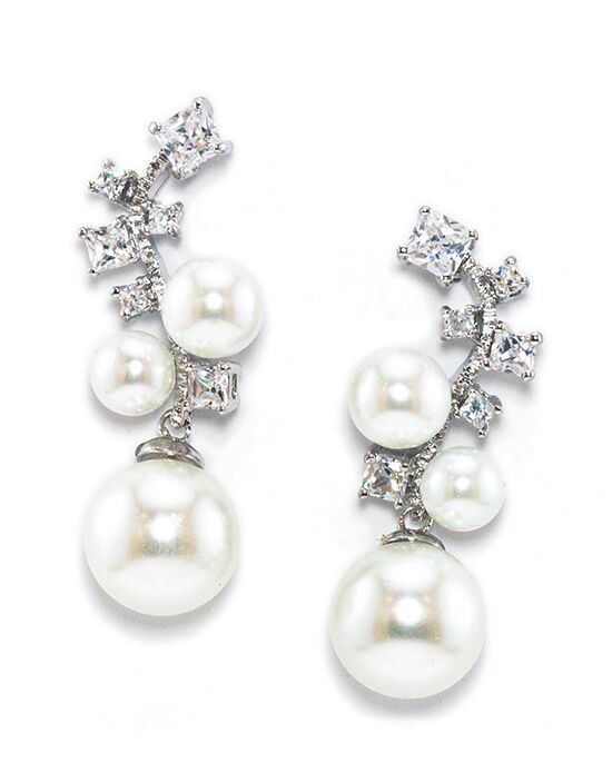 Anna Bellagio CARRINE MODERN CHIC PEARL AND CUBIC ZIRCONIA EARRING Wedding Earring photo