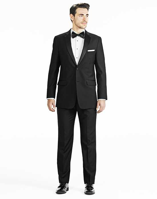 Generation Tux Black Notch Lapel Tux Black Tuxedo
