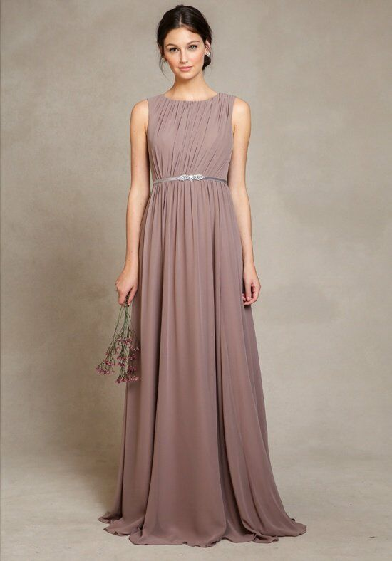 Jenny Yoo Collection (Maids) Eloise 1583 Bateau Bridesmaid Dress