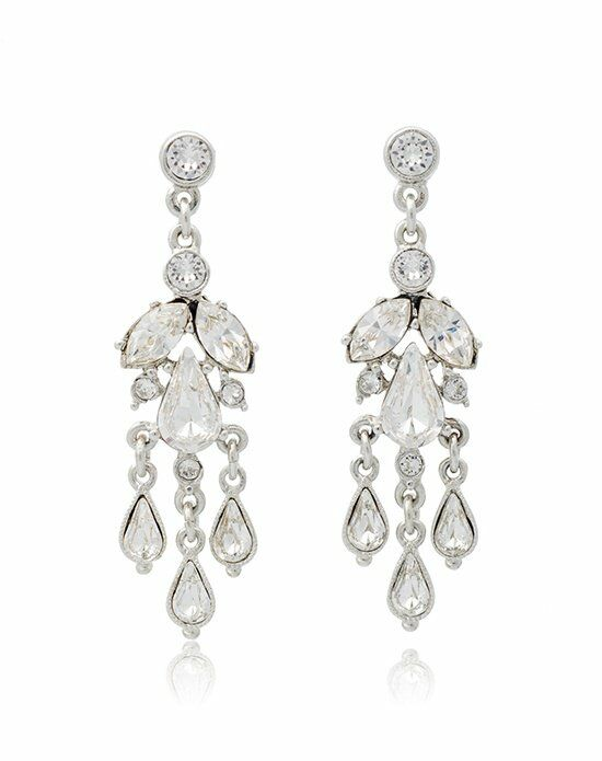 Thomas Laine Ben-Amun Petite Crystal Teardrop Chandelier Earrings Wedding Earring photo