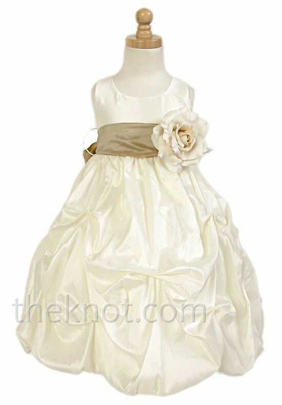 Pink Princess D3060 Brown Flower Girl Dress